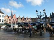 BL106-Horses-and-carriages-in-main-square-at-Brugge