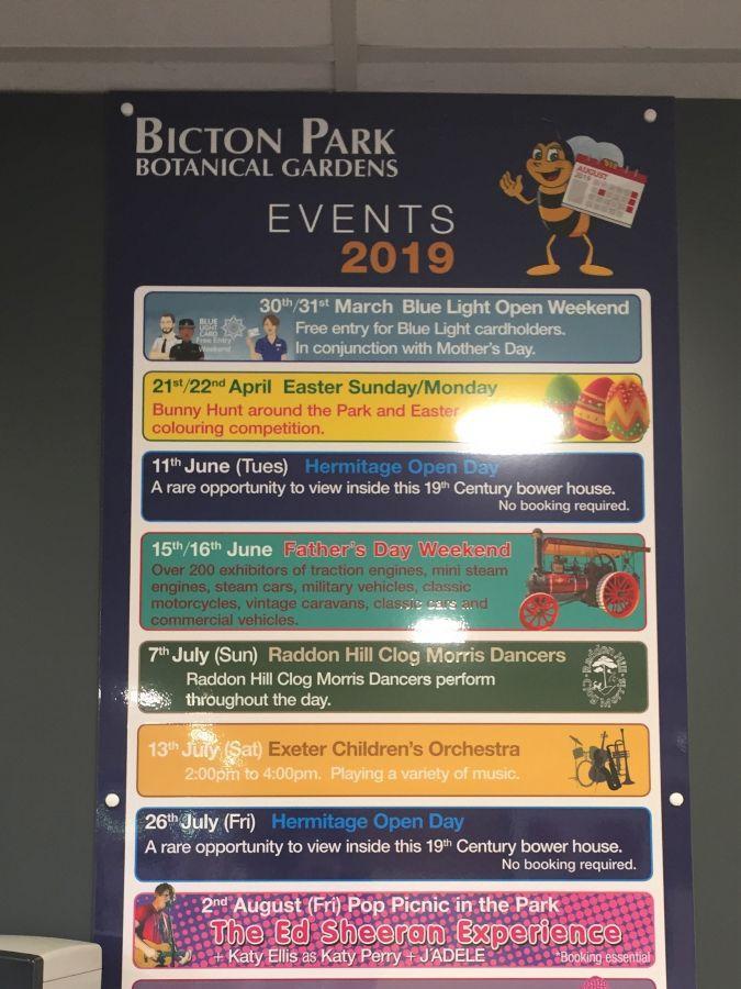 Bicton-Gardens-July-2019-Notice-board